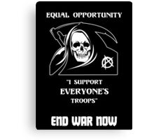 Equal Opportunity Grim Reaper Canvas Print