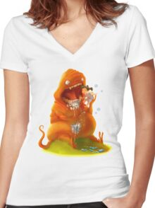 Brush Your Teeth! Women's Fitted V-Neck T-Shirt