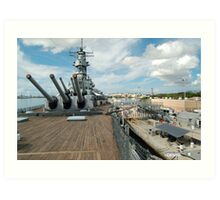 From the bow of the USS Missouri Art Print