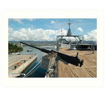 USS Missouri and Arizona Memorial Art Print
