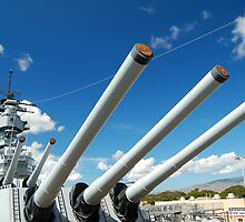 USS Missouri 16-inch guns by Greg Kolio Taylor