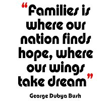 '...Where our wings take dream...' - from the surreal George Dubya Bush series Photographic Print