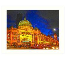 Flinders Street Station, Melbourne, Australia  Art Print