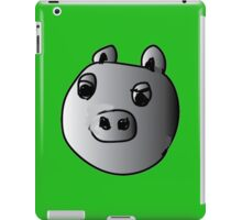 green piggy grey scale iPad Case/Skin