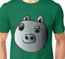 green piggy grey scale Unisex T-Shirt