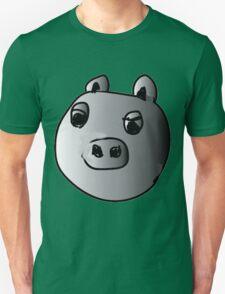 green piggy grey scale T-Shirt
