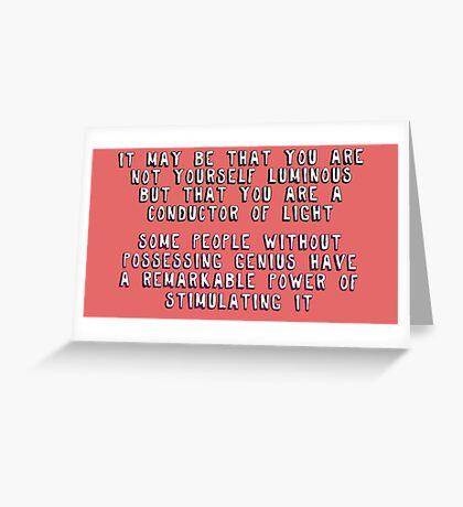 John Watson= Conductor of Light Greeting Card