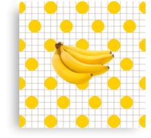 Banana Grid Canvas Print