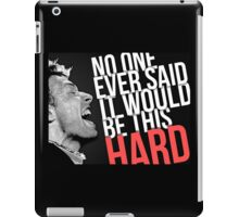 Coldplay -- The Scientist lyrics iPad Case/Skin
