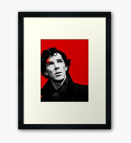BBC Sherlock - Red Framed Print