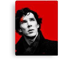 BBC Sherlock - Red Canvas Print