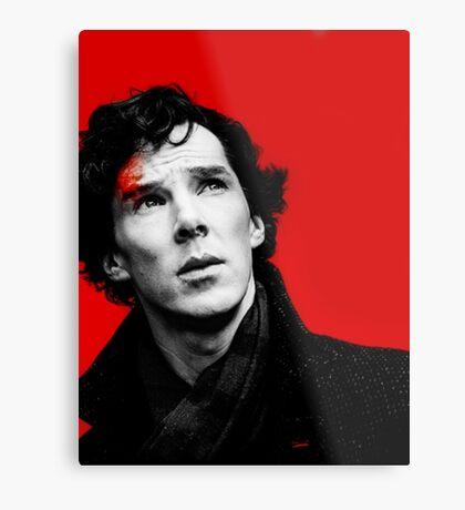BBC Sherlock - Red Metal Print
