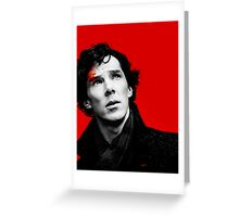 BBC Sherlock - Red Greeting Card