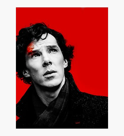 BBC Sherlock - Red Photographic Print