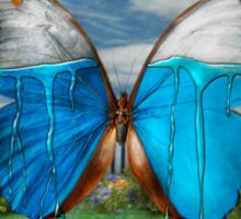 Butterfly - Morpho - I hate it when the colors run Sticker