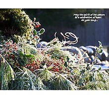 Spirit of the Season... Photographic Print