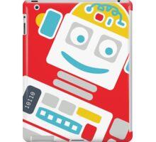 Retro Robot - Red, White & Blue iPad Case/Skin