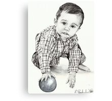 Max with Blue Ball Canvas Print