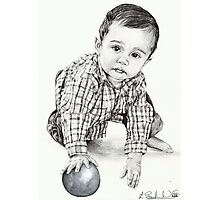 Max with Blue Ball Photographic Print