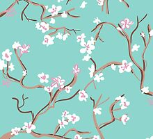 Cherry Blossoms in Pastel by Larasim