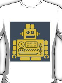 Retro Robot - Navy & Yellow T-Shirt