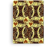 FOUR KING OF HEARTS Canvas Print