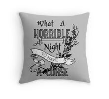 A Cursed Night Throw Pillow