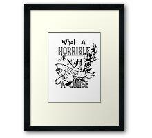 A Cursed Night Framed Print