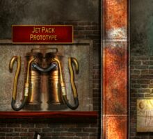 Steampunk - Alphabet - J is for Jet Pack Sticker