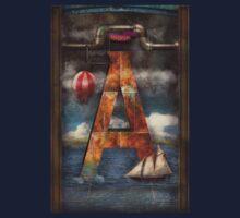 Steampunk - Alphabet - A is for Adventure Kids Tee