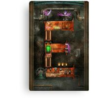 Steampunk - Alphabet - E is for Electricty Canvas Print