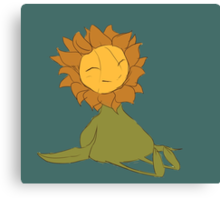 The Happy Sunflower Canvas Print