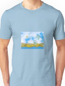 Colorful Sand Pail On Private Mountain Beach Unisex T-Shirt