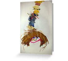 Mummy with books on her head Greeting Card