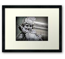 A silvery smile Framed Print