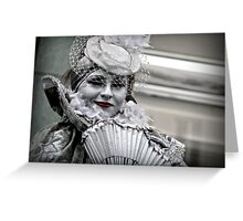 A silvery smile Greeting Card