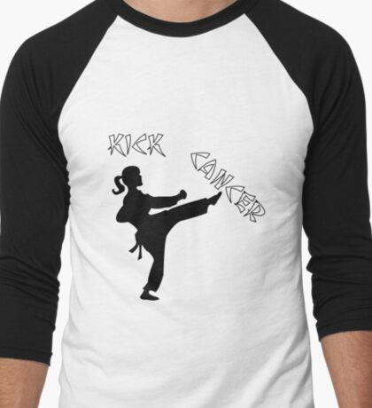 Kick Cancer Men's Baseball ¾ T-Shirt
