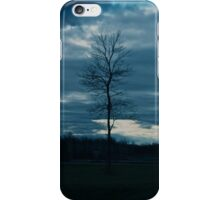 Dark skies and lonely tree iPhone Case/Skin