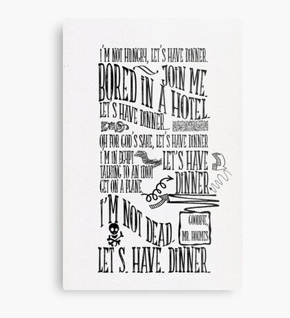 I'm not hungry, let's have dinner Metal Print