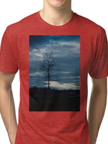 Dark skies and lonely tree Tri-blend T-Shirt