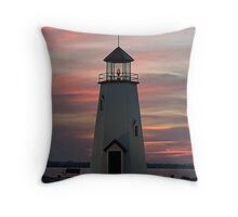 East Wharf Lighthouse Throw Pillow