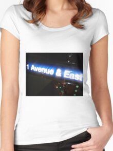 New York-Avenue & East Women's Fitted Scoop T-Shirt