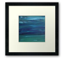 Grace - Abstract Blue Framed Print