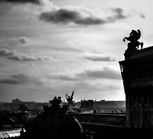 View From The Roof Of Galeries Lafayette by Ian Mooney