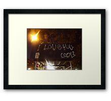 New York-I Love you, Cool? Framed Print