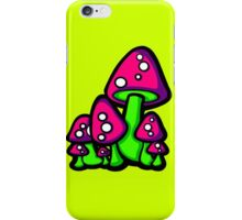 Mushrooms Pink and Purple iPhone Case/Skin