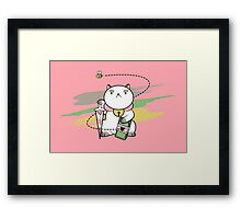 Peon, Bow to me! Framed Print
