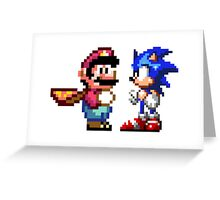 16-bit Rivals Greeting Card