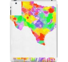 Texas Map Pop art On White iPad Case/Skin