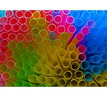 Random Straws Photographic Print